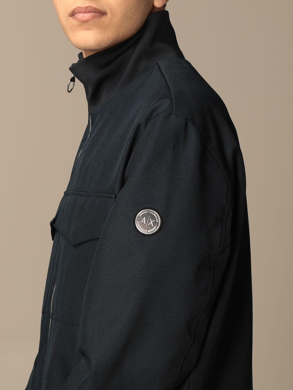Jacket Armani Exchange: Armani Exchange zip jacket with logo blue 4