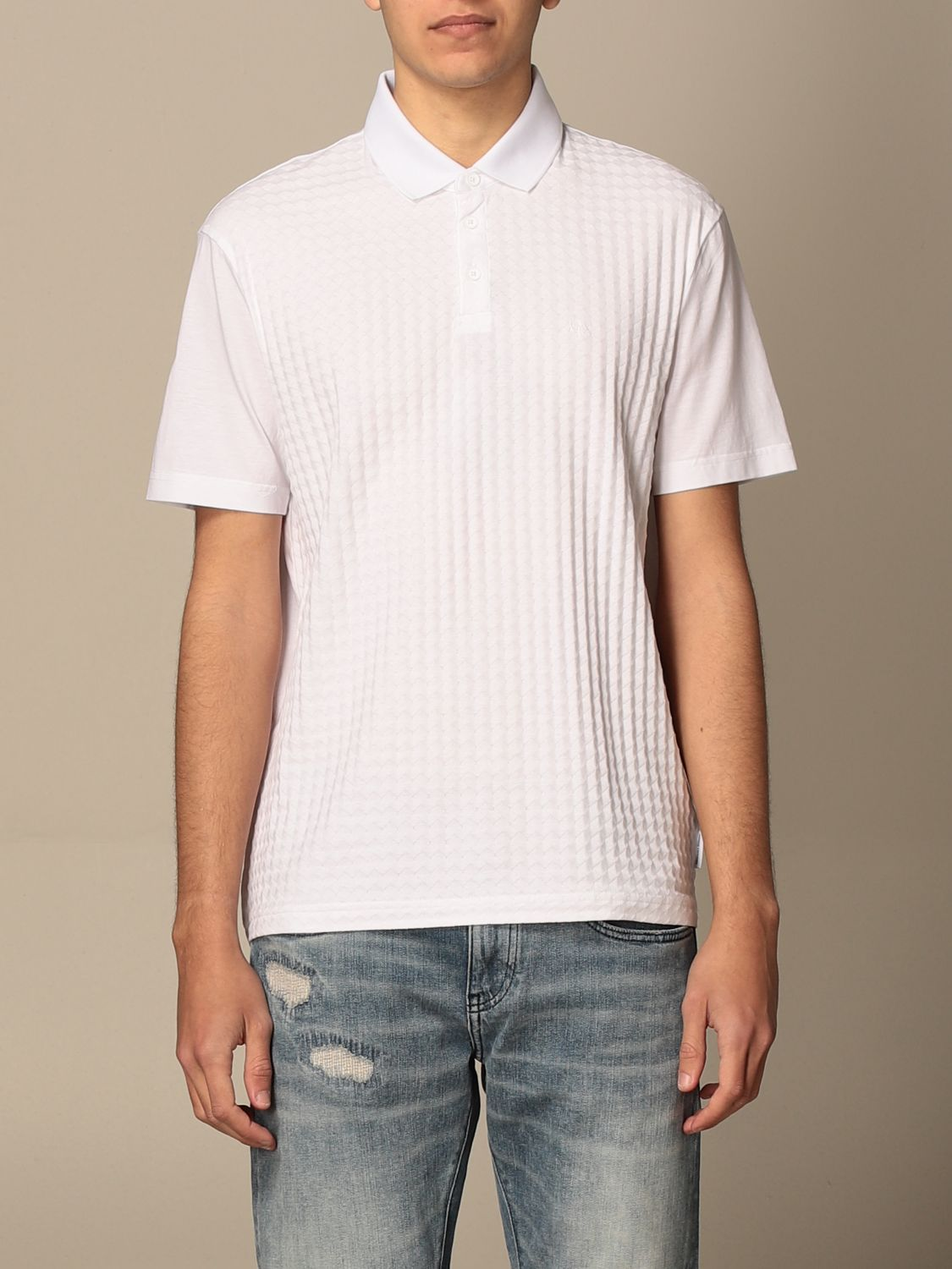 Polo shirt Armani Exchange: Polo shirt men Armani Exchange white 1