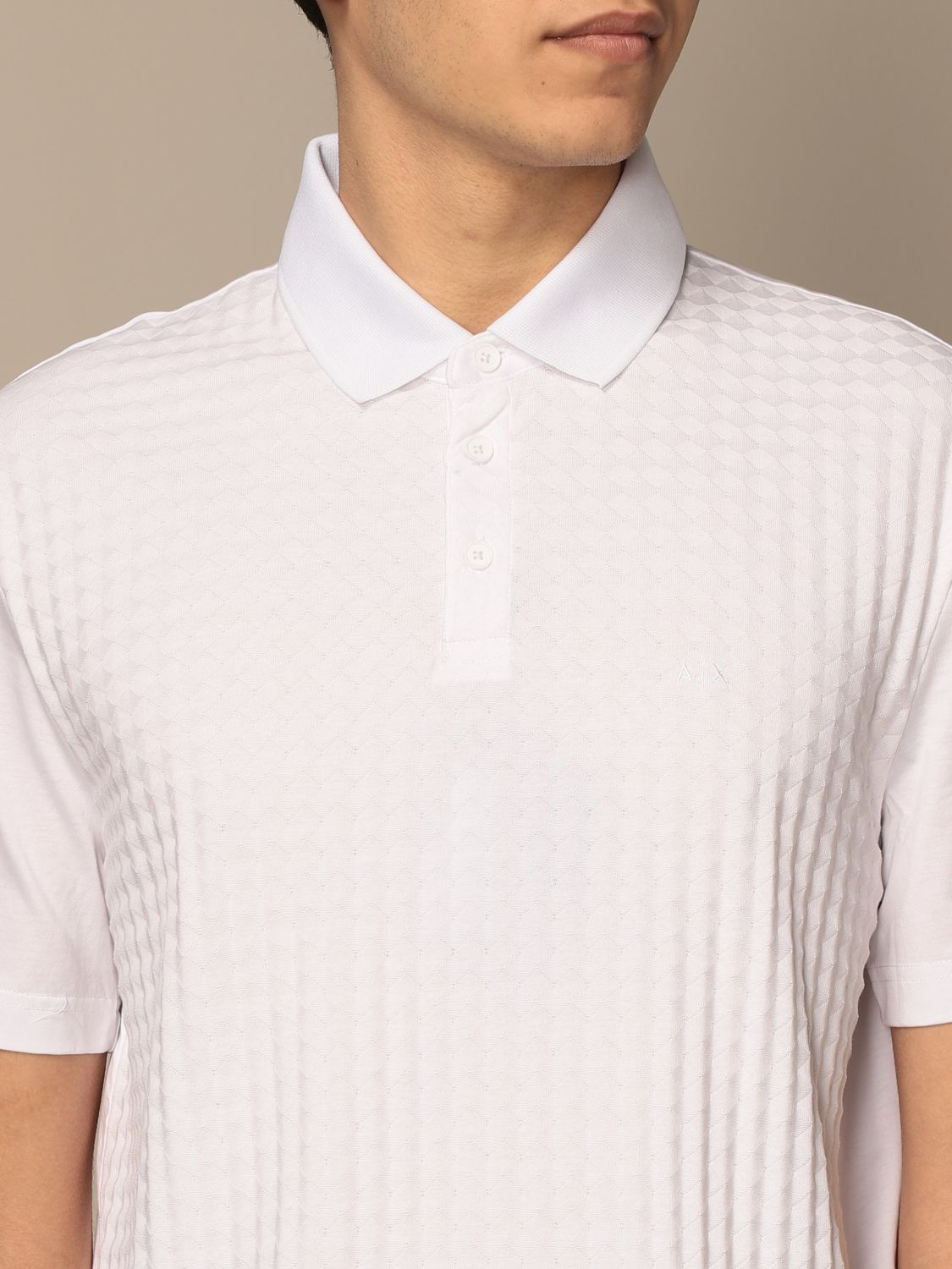 Polo shirt Armani Exchange: Polo shirt men Armani Exchange white 3
