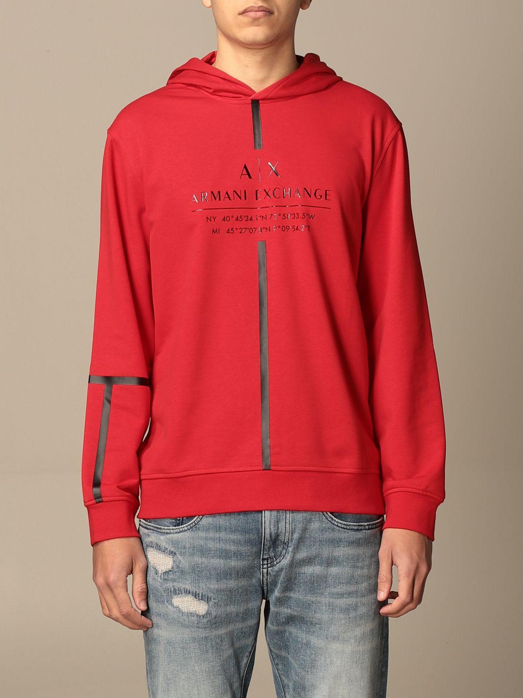 Sweatshirt Armani Exchange: Sweatshirt homme Armani Exchange rouge 1