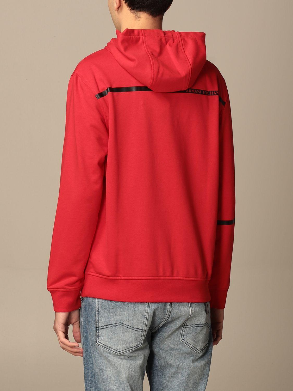 Sweatshirt Armani Exchange: Sweatshirt homme Armani Exchange rouge 2