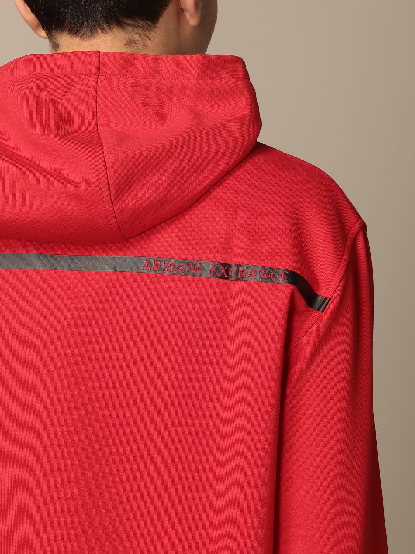 Sweatshirt Armani Exchange: Sweatshirt homme Armani Exchange rouge 3