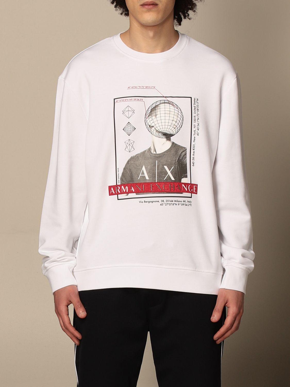 Sweatshirt Armani Exchange: Armani Exchange crewneck sweatshirt with print white 1