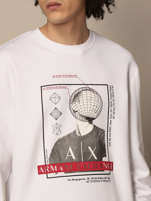 Sweatshirt Armani Exchange: Armani Exchange crewneck sweatshirt with print white 3