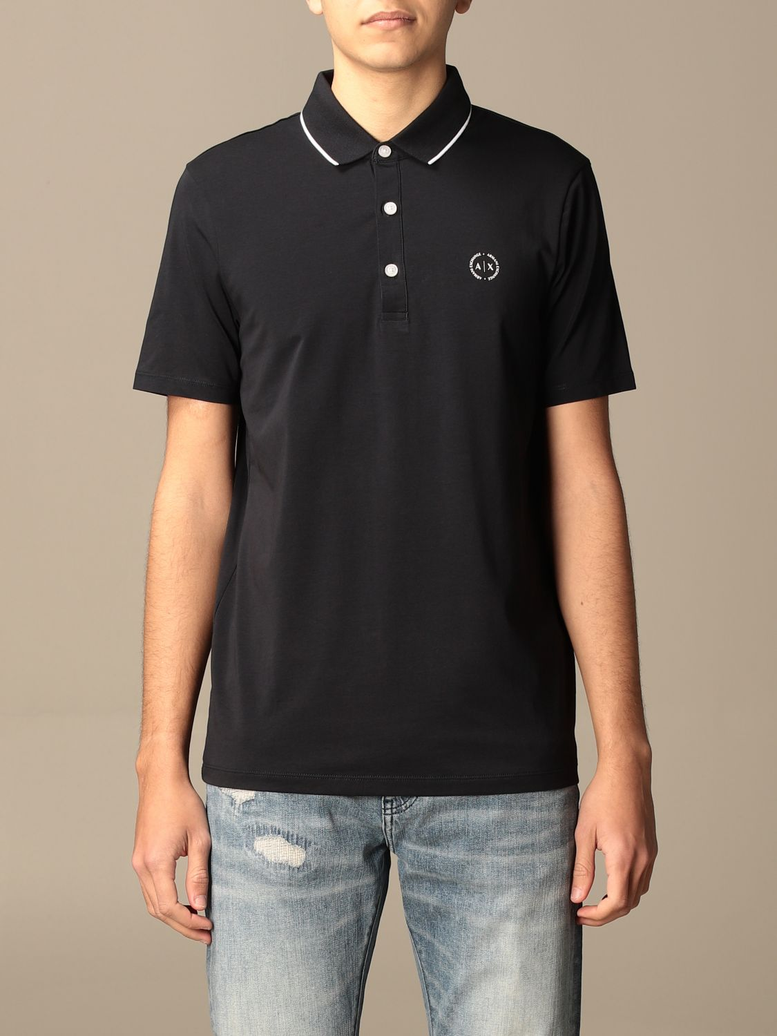 Polo shirt Armani Exchange: Polo shirt men Armani Exchange blue 1