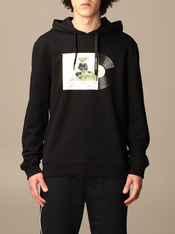 Sweatshirt Armani Exchange: Armani Exchange hoodie with print black 1