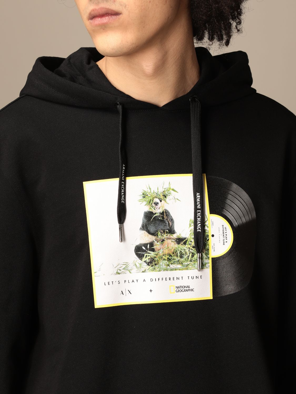 Sweatshirt Armani Exchange: Armani Exchange hoodie with print black 3