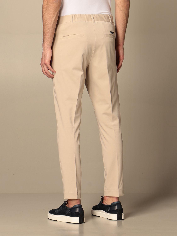 Pants Alessandro Dell'acqua: Alessandro Dell'acqua basic trousers in cotton beige 2