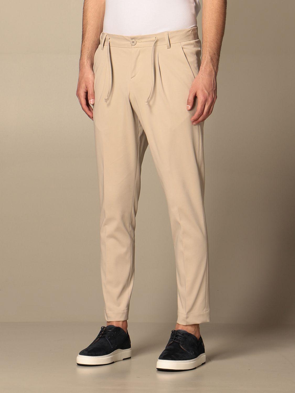 Pants Alessandro Dell'acqua: Alessandro Dell'acqua basic trousers in cotton beige 3