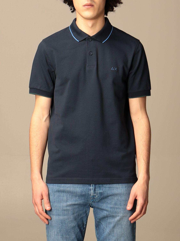 Polo shirt Sun 68: Sun 68 cotton polo shirt with logo navy 1