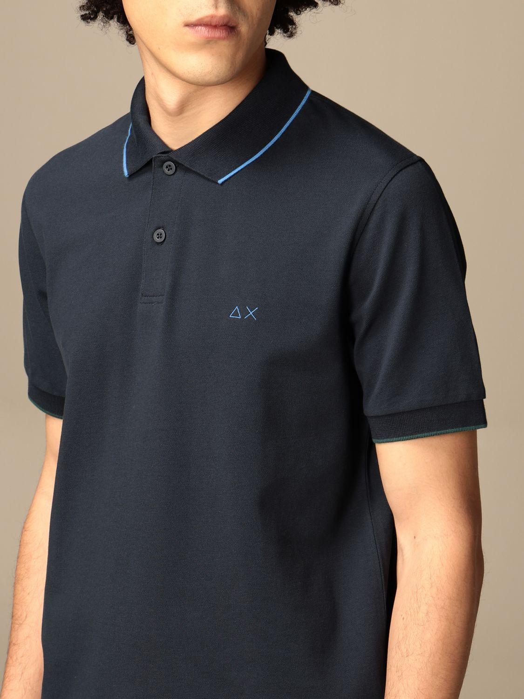 Polo shirt Sun 68: Sun 68 cotton polo shirt with logo navy 3