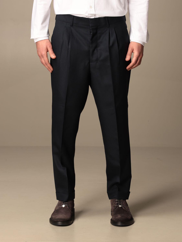 Trousers Ami Alexandre Mattiussi: Trousers men Ami Alexandre Mattiussi navy 1