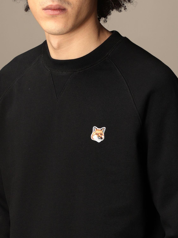 Felpa Maison Kitsuné: Felpa Maison Kitsuné in cotone con logo nero 3