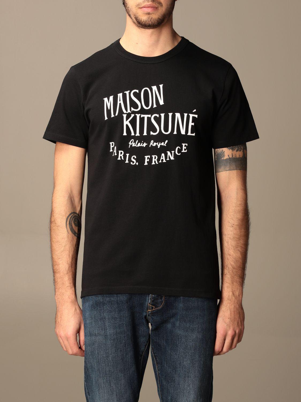T-shirt Maison Kitsuné: T-shirt Maison Kitsuné in cotone con logo nero 1