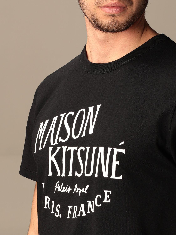 T-shirt Maison Kitsuné: T-shirt Maison Kitsuné in cotone con logo nero 3
