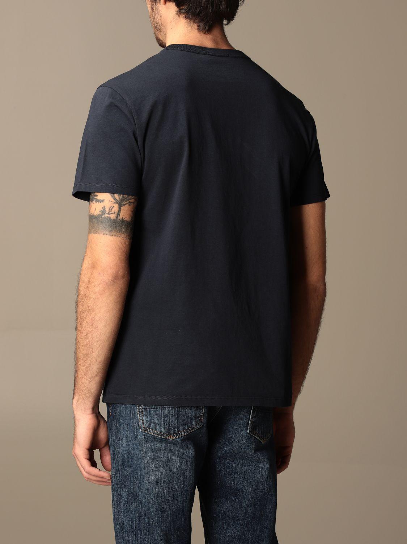 T-shirt Maison Kitsuné: T-shirt Maison Kitsuné in cotone con logo blue navy 2