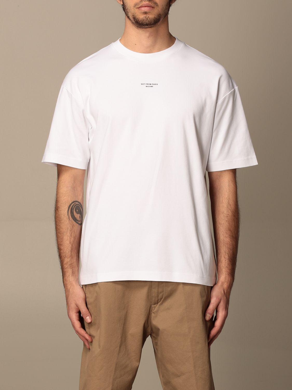 T-shirt Drole De Monsieur: T-shirt Drole De Monsieur in cotone con logo bianco 1