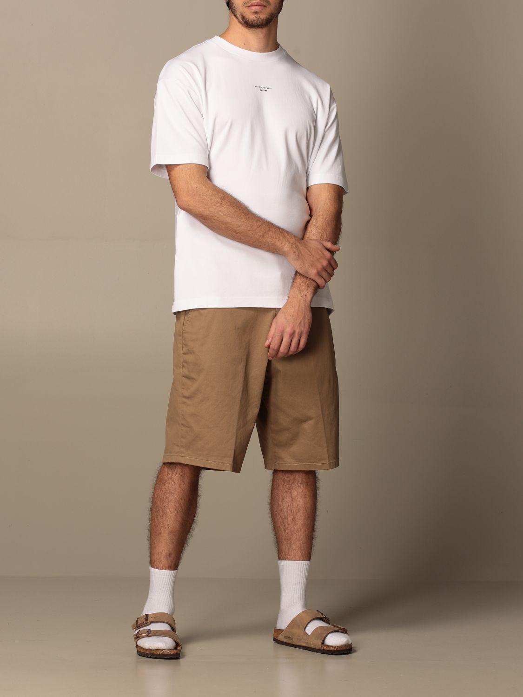 T-shirt Drole De Monsieur: T-shirt Drole De Monsieur in cotone con logo bianco 2