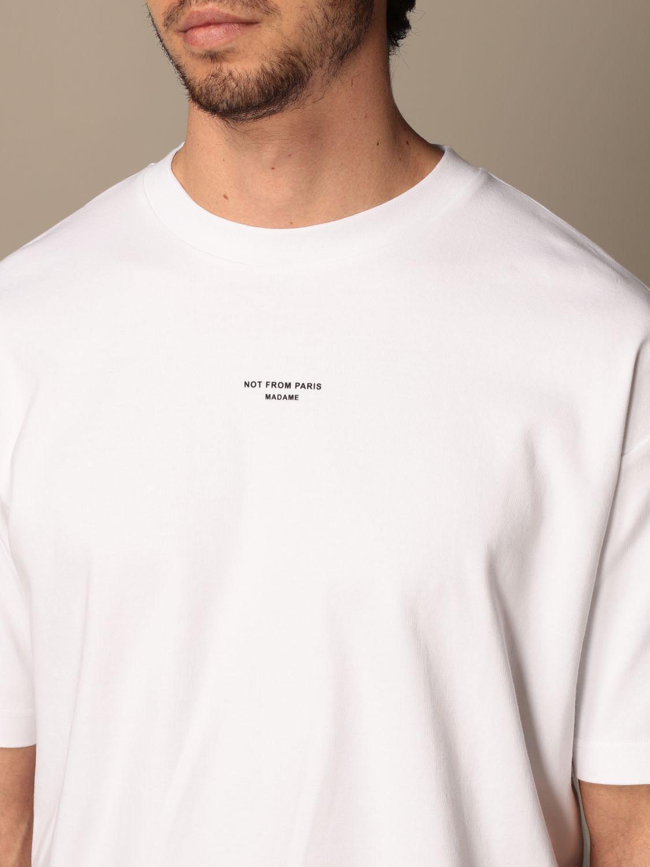 T-shirt Drole De Monsieur: T-shirt Drole De Monsieur in cotone con logo bianco 4