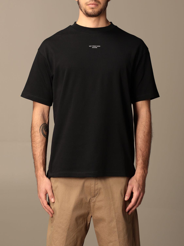 T-shirt Drole De Monsieur: T-shirt Drole De Monsieur in cotone con logo nero 1
