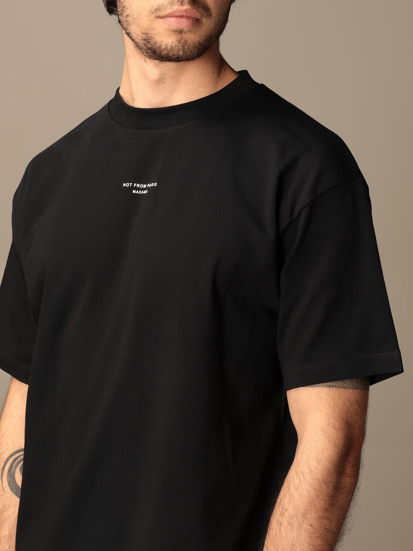 T-shirt Drole De Monsieur: T-shirt Drole De Monsieur in cotone con logo nero 4