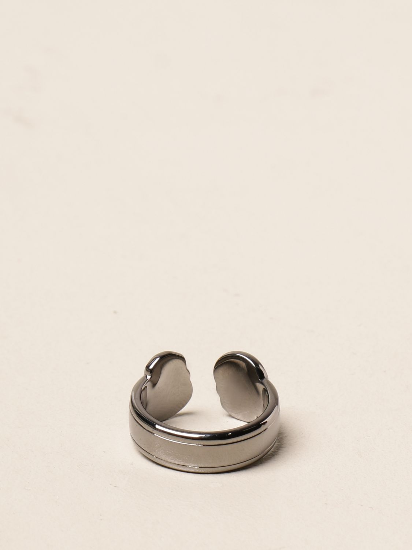 Jewel Alexander Mcqueen: Alexander McQueen ring with skulls silver 2