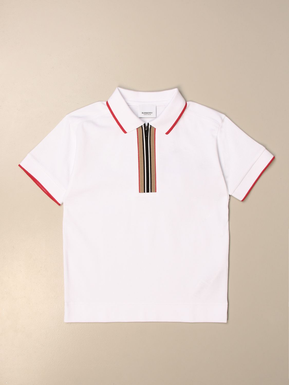 Polo Burberry: Camiseta niños Burberry blanco 1