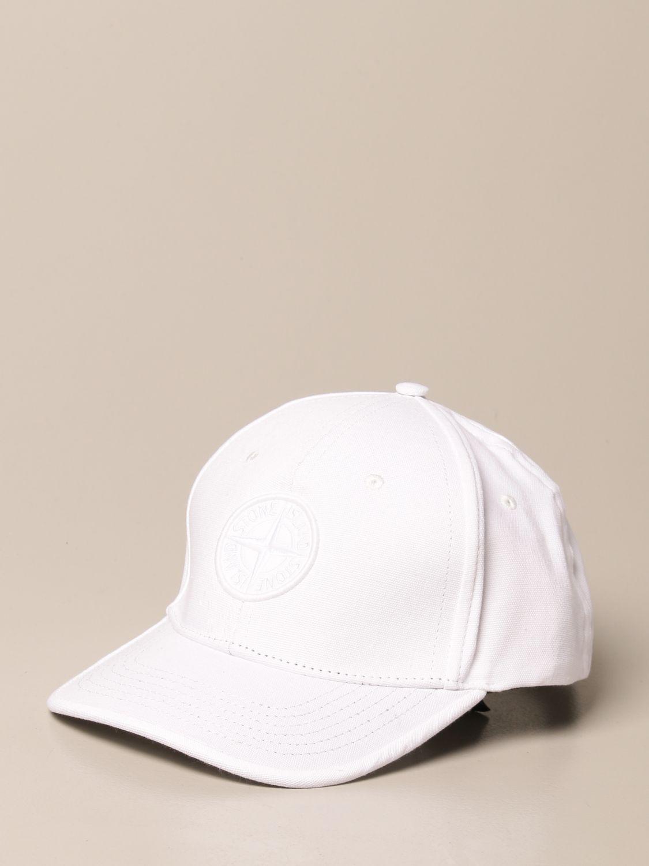 Hat Stone Island Junior: Stone Island Junior hat with logo white 1