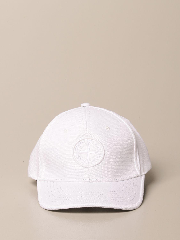 Hat Stone Island Junior: Stone Island Junior hat with logo white 2