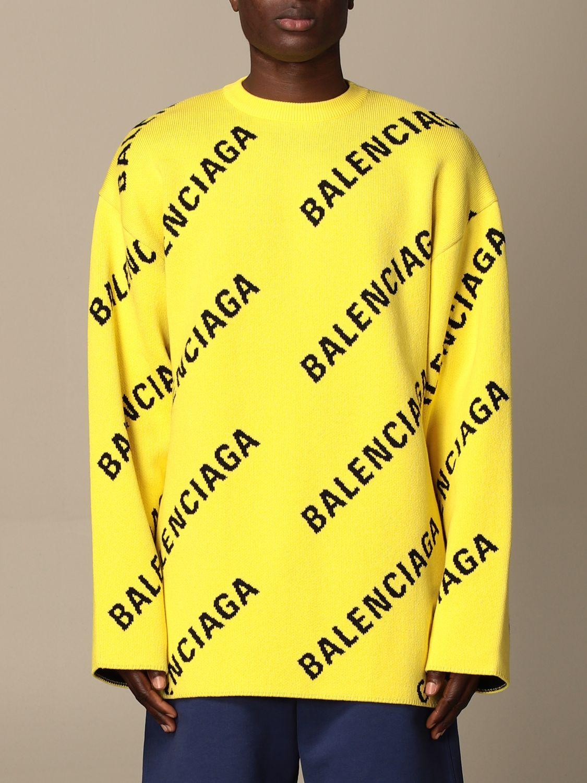 Pull Balenciaga: Pull homme Balenciaga jaune 1