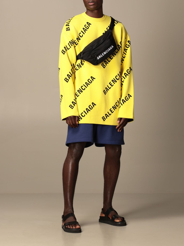 Pull Balenciaga: Pull homme Balenciaga jaune 2