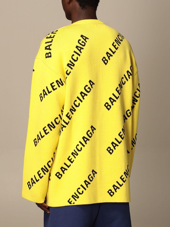 Pull Balenciaga: Pull homme Balenciaga jaune 3
