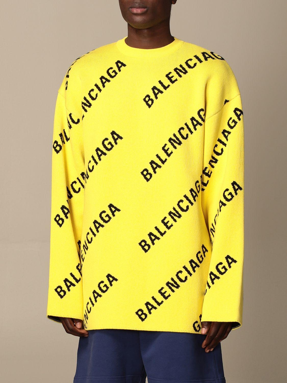 Pull Balenciaga: Pull homme Balenciaga jaune 4