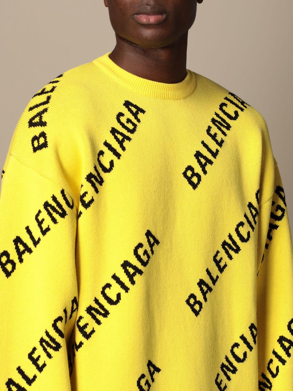 Pull Balenciaga: Pull homme Balenciaga jaune 5