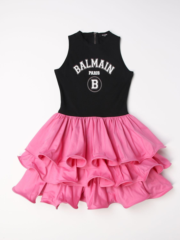 Vestido Balmain: Vestido niños Balmain negro 1 1