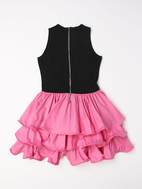 Vestido Balmain: Vestido niños Balmain negro 1 2