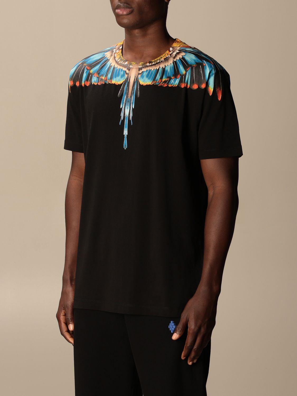 Camiseta Marcelo Burlon: Camiseta hombre Marcelo Burlon negro 2 3