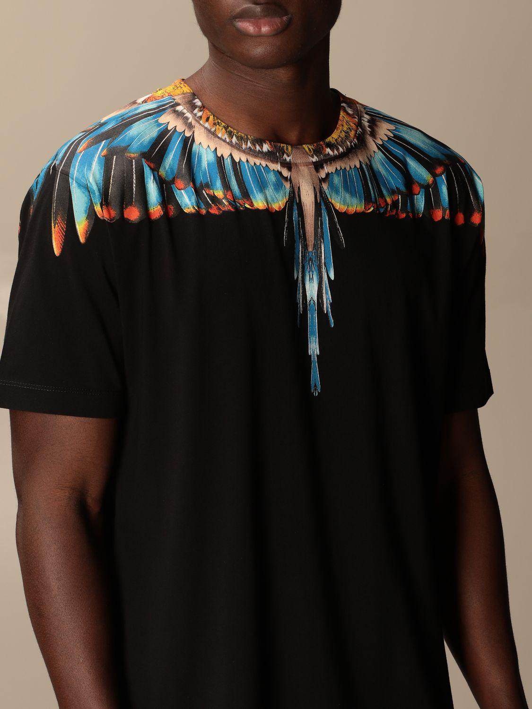 Camiseta Marcelo Burlon: Camiseta hombre Marcelo Burlon negro 2 4
