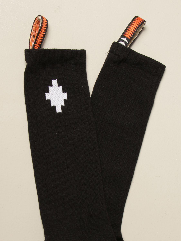 Socks Marcelo Burlon: Marcelo Burlon short socks with logo and tabs black 2