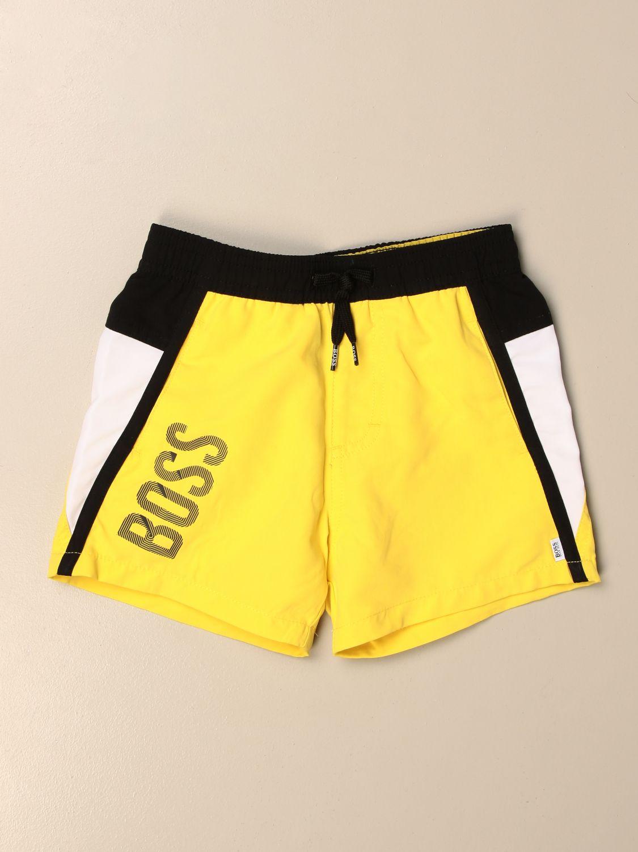 Купальный костюм Hugo Boss: Купальный костюм Детское Hugo Boss желтый 1