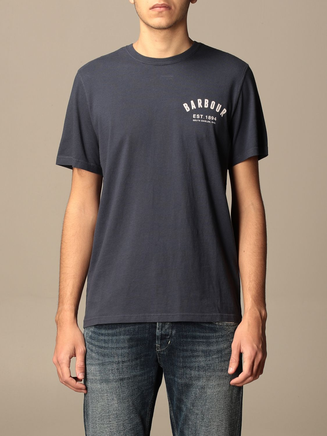 T-shirt Barbour: Barbour cotton t-shirt with logo detail white 1