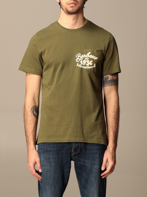 T-shirt Barbour: T-shirt men Barbour green 1