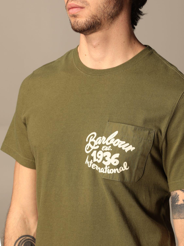 T-shirt Barbour: T-shirt men Barbour green 3