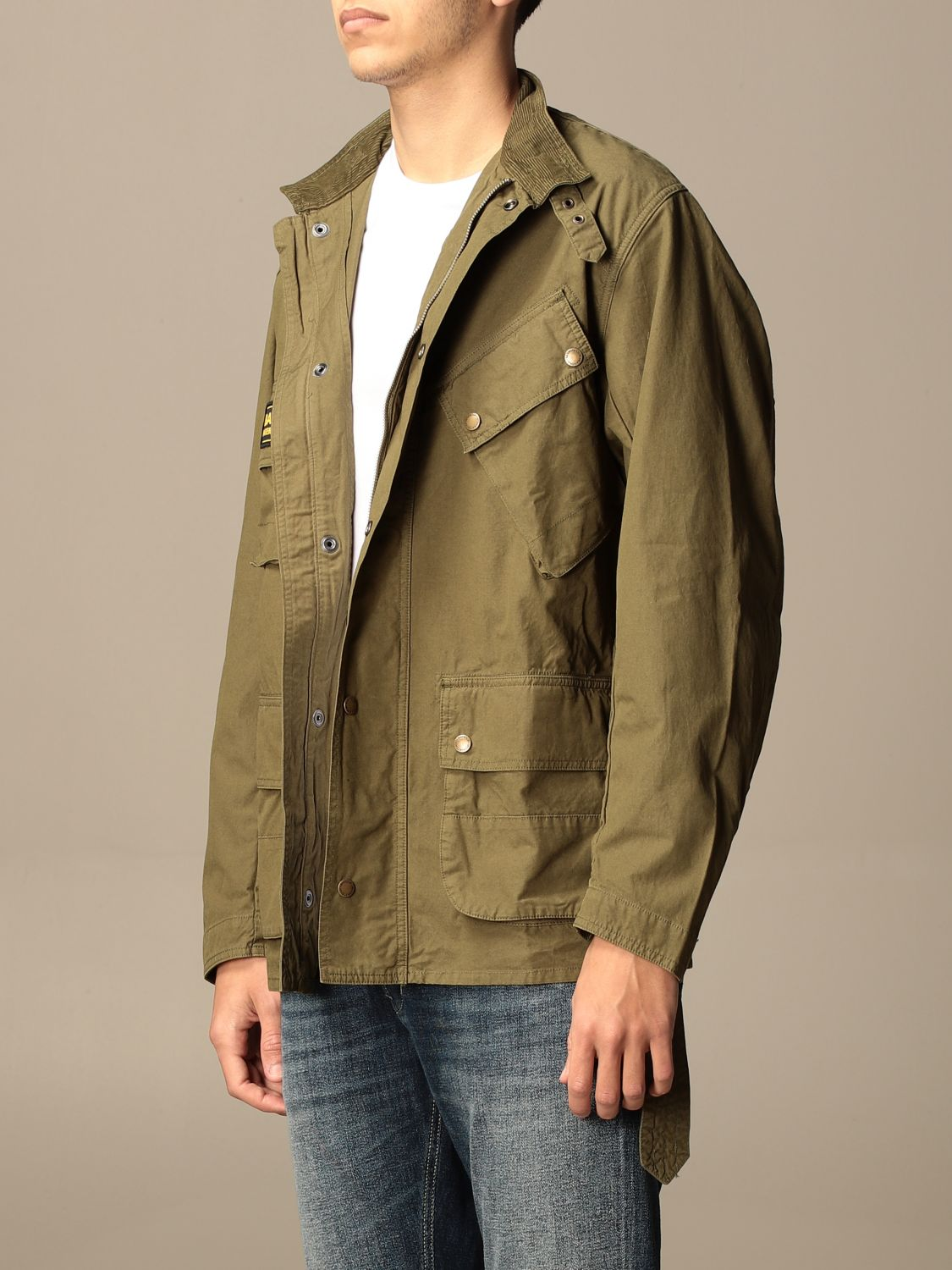 Giacca Barbour: Giacca Barbour in canvas militare 3