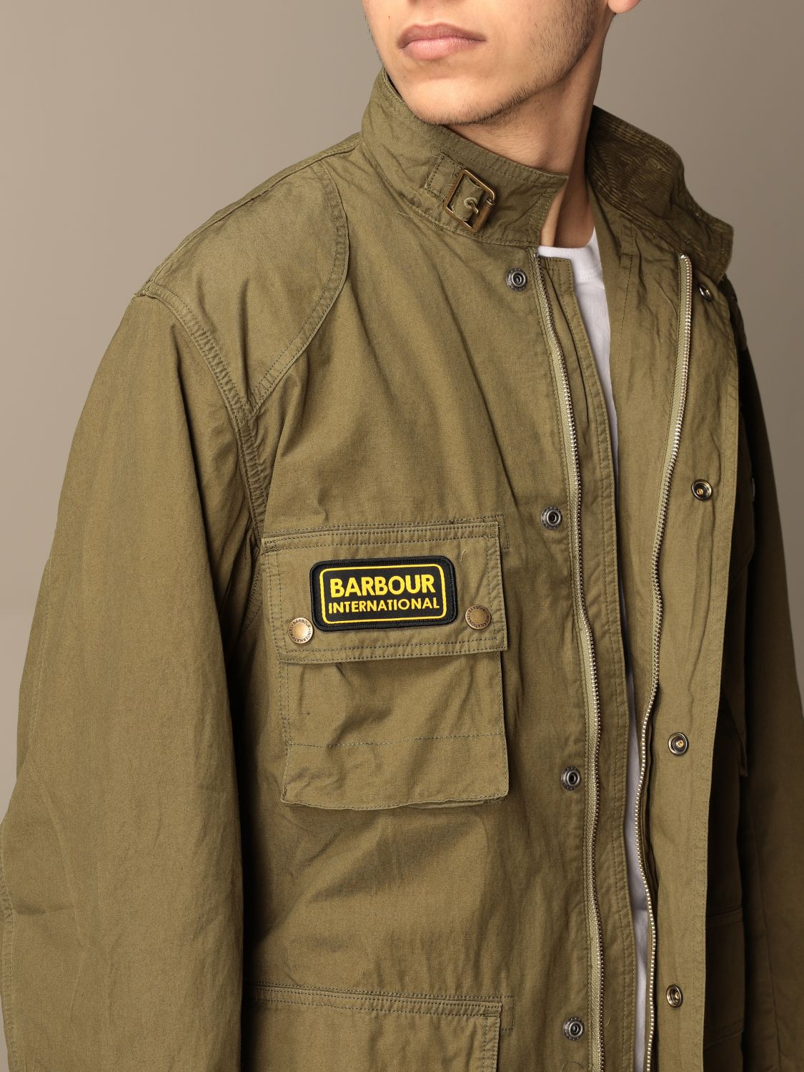 Giacca Barbour: Giacca Barbour in canvas militare 4