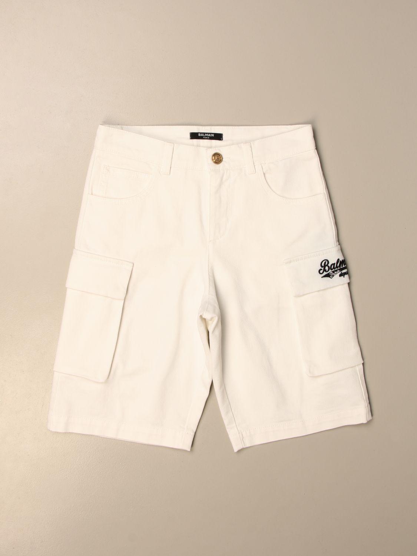 Pantaloncino Balmain: Pantaloncino bambino Balmain bianco 1