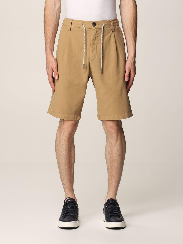 Pantalones cortos Eleventy: Pantalones cortos hombre Eleventy camello 1