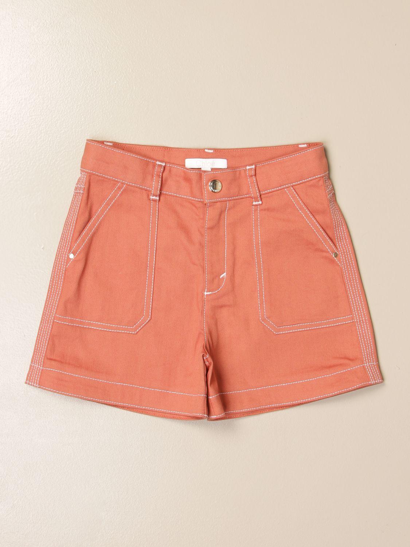 Pantalones cortos Chloé: Pantalones cortos niños ChloÉ ladrillo 1