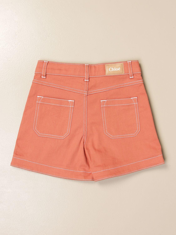 Pantalones cortos Chloé: Pantalones cortos niños ChloÉ ladrillo 2
