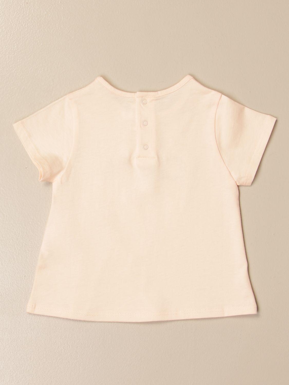 T-shirt Chloé: Chloé t-shirt in basic cotton with logo pink 2